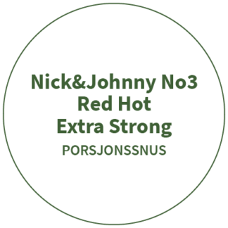 Nick&Johnny No3 Red Hot Extra Strong
