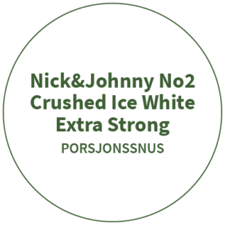 Nick&Johnny No2 Crushed Ice White Extra Strong