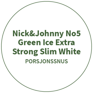 Nick&Johnny No5 Green Ice Extra Strong Slim White
