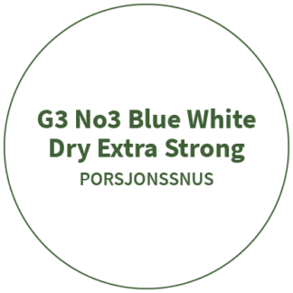 G3 No3 Blue White Dry Extra Strong