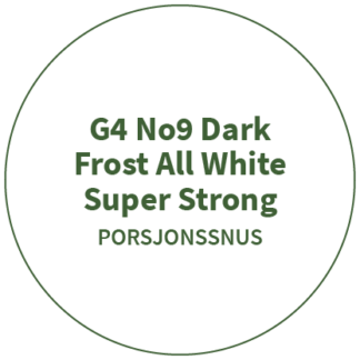 G4 No9 Dark Frost All White Super Strong